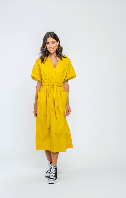 Savannah Dress | Marigold Cotton