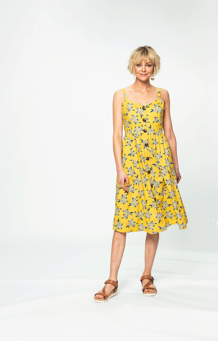 Seren Dress | Yellow Jasmine