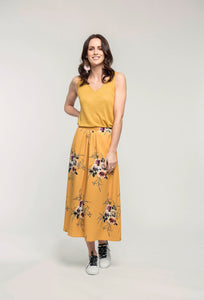 473 Noelle Tank - honey linen & 405 Meredith Skirt - honey bouquet  (2).jpg