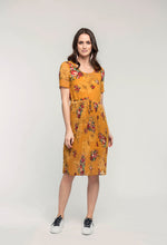 Load image into Gallery viewer, 474 Adelaide Dress - gold pixel .jpg