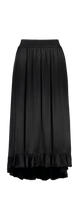 Anika Skirt | Black Satin