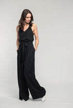 Load image into Gallery viewer, 481 Penelope Cami - black satin & 476 Marie Pants - black linen  (1).jpg