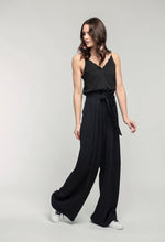 Load image into Gallery viewer, 481 Penelope Cami - black satin & 476 Marie Pants - black linen  (2).jpg