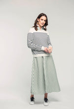 Load image into Gallery viewer, 487 Breton Jumper - navy stripe & 466 Nicola Maxi - apple stripe .jpg