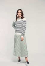 Load image into Gallery viewer, 487 Breton Jumper - navy stripe & 466 Nicola Maxi - apple stripe  (2).jpg