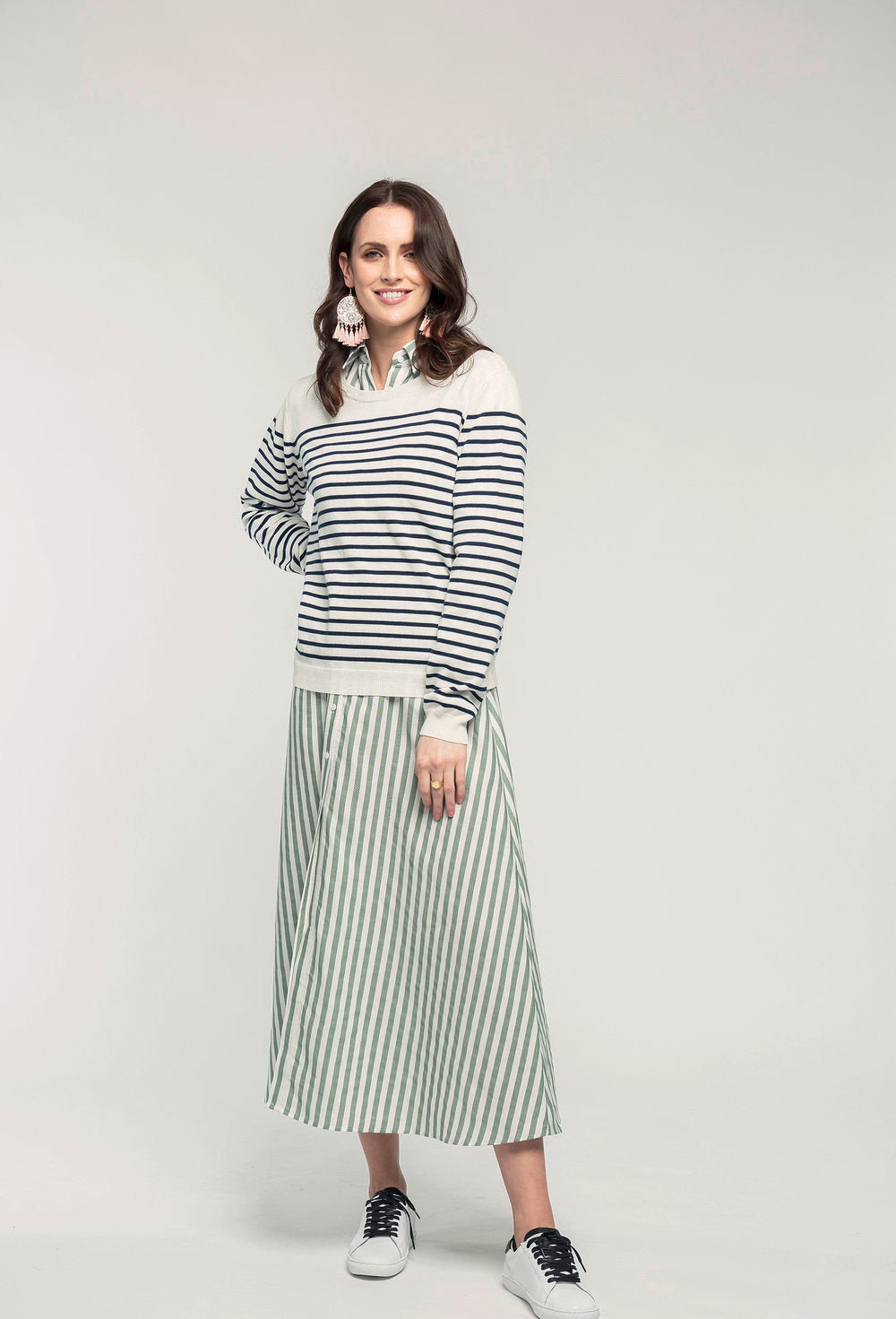 487 Breton Jumper - navy stripe & 466 Nicola Maxi - apple stripe  (2).jpg