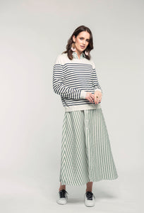 487 Breton Jumper - navy stripe & 466 Nicola Maxi - apple stripe .jpg