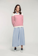 Load image into Gallery viewer, 487 Breton Jumper - red stripe & 466 Nicola Maxi - sky stripe  (1).jpg