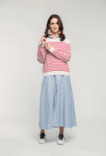 Load image into Gallery viewer, 487 Breton Jumper - red stripe & 466 Nicola Maxi - sky stripe  (2).jpg