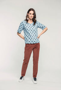 489 Katie Top - denim star & 174 Rebecca Pants - mocha cord  (2).jpg