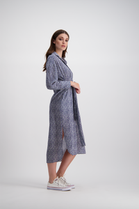 Tash Shirt Dress | Navy Forest