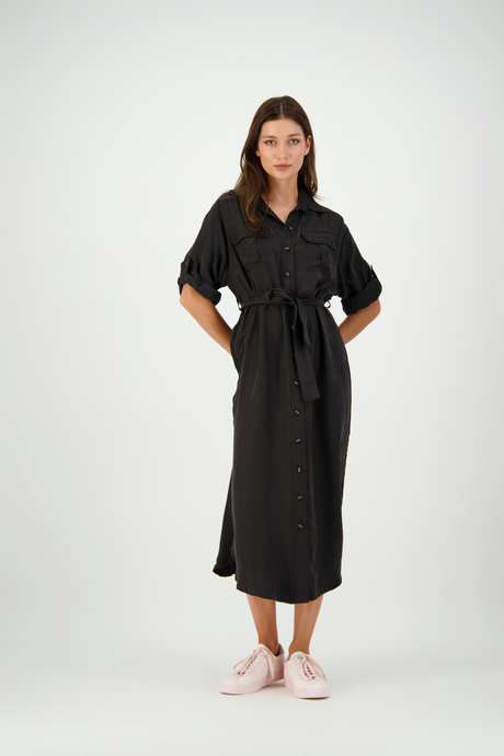 Julia Shirt Dress | Black Cupe