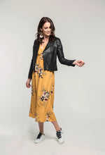 Load image into Gallery viewer, 315 Leather Jacket - black & 478 Jasmine Maxi - honey bouquet  (3).jpg