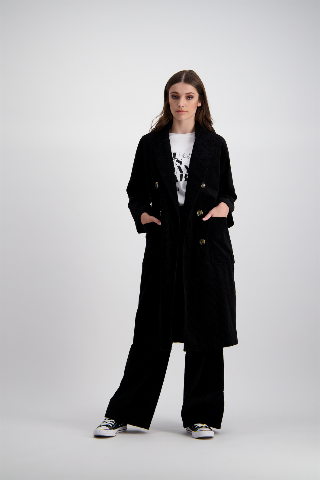 Tia Coat | Black Cord