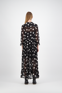 Aki Dress | Black Polka