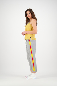 Bobbie Pants | Grey/Mustard/Red