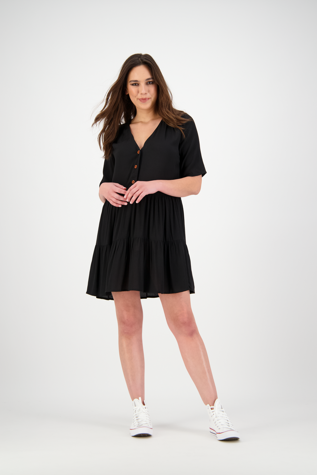 Maia Dress | Solid Black