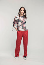 Load image into Gallery viewer, 400 Paige Top - navy rose & Karen Pants - tiger spot  (4).jpg