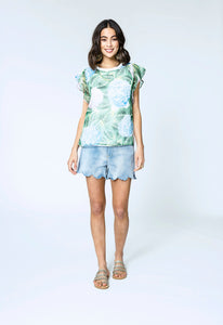 Alina Top & Lara Shorts- hydrangea love & blue denim 1.jpg