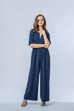 Load image into Gallery viewer, Ash Jumpsuit- True Navy 1.jpg