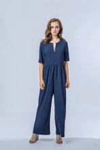 Load image into Gallery viewer, Ash Jumpsuit- True Navy 2.jpg