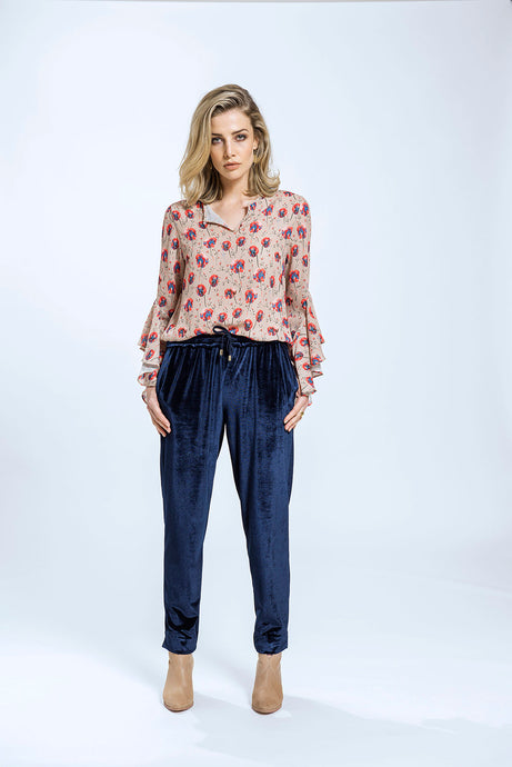 Belle Top & Yve Pants- Fawn Pansy & Navy Velvet 1.jpg