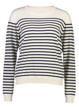 Load image into Gallery viewer, Breton Jumper Navy Stripe _Front.jpg