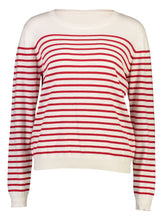 Load image into Gallery viewer, Breton Jumper red stripe_Front.jpg