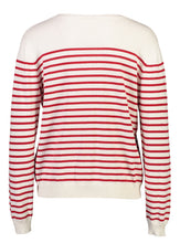 Load image into Gallery viewer, Breton Jumper red stripe _Back.jpg