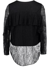 Load image into Gallery viewer, Brie Top - black lace_Back.jpg