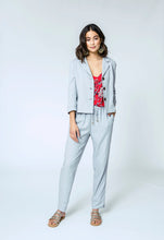 Load image into Gallery viewer, Caroline Jacket & Yve Pants- silver linen 1 (1).jpg