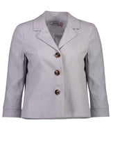Load image into Gallery viewer, Caroline jacket silver linen _Front.jpg