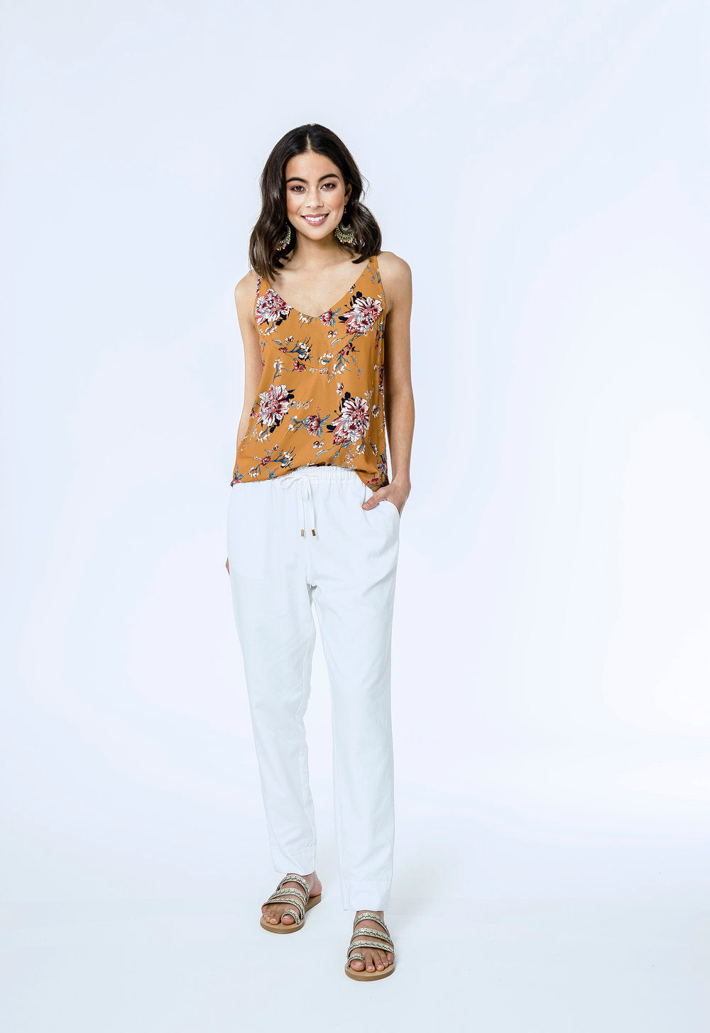 Claire Cami & Yve Pants- spice floral & white linen 1.jpg