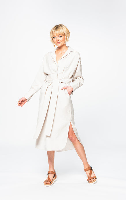 Tash Shirt Dress | True Linen