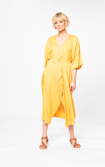 Courtney Dress | Sunset Yellow