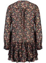 Load image into Gallery viewer, Elle mini dress 70s Floral _Back.jpg