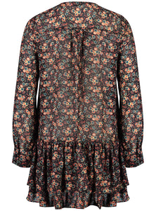 Elle mini dress 70s Floral _Back.jpg