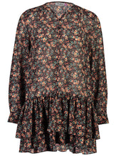 Load image into Gallery viewer, Elle mini dress 70s Floral _Front.jpg