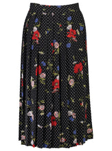 Load image into Gallery viewer, Faye skirt floral dot_Back.jpg