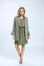 Load image into Gallery viewer, Frill Coat- Green Herringbone 4.jpg