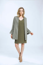 Load image into Gallery viewer, Frill Coat- Green Herringbone 5.jpg