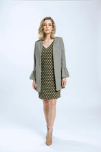 Load image into Gallery viewer, Frill Coat- Green Herringbone 6.jpg