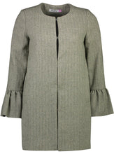 Load image into Gallery viewer, Frill Coat Herringbone Green_Front.jpg