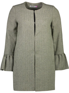 Frill Coat Herringbone Green_Front.jpg