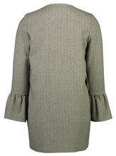 Load image into Gallery viewer, Frill Coat Herringbone Green _Back.jpg