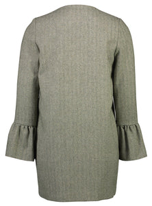 Frill Coat Herringbone Green _Back.jpg