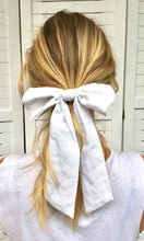 Load image into Gallery viewer, Hair Bow | White Linen
