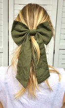 Hair Bow | Khaki Linen