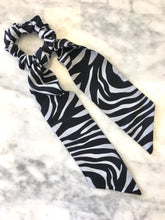 Load image into Gallery viewer, Tie Scrunchie | Zebra
