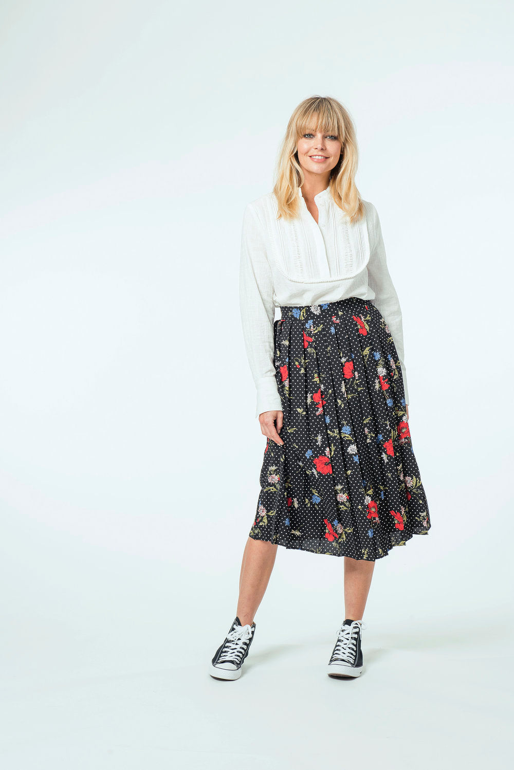 Isobel Top & Faye Skirt - White Bib & Floral Dot.jpg